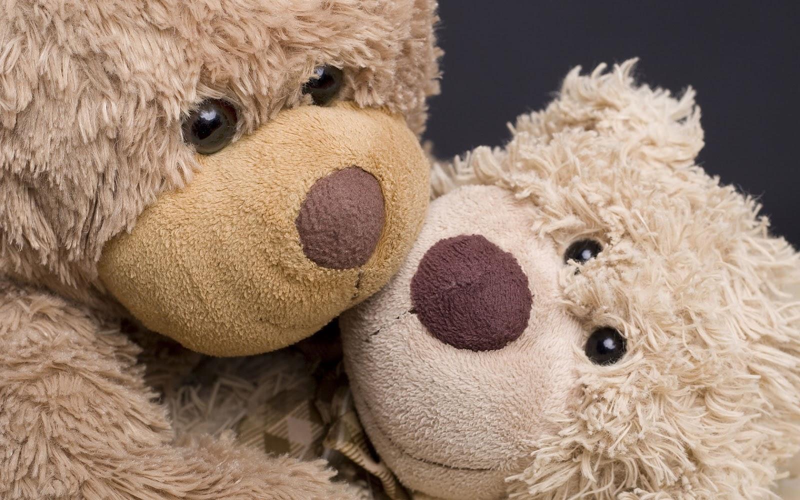 Achtergrond met twee teddyberen voor kinderen