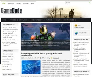 Game Dude Blogger Template
