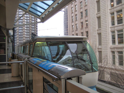 Seattle's Monorail built in 1962 for the World's Fair