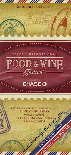 Epcot Food and Wine Festival Map 2012