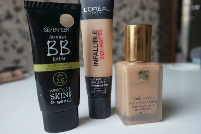 Beauty Foundation Favourites from 2015 including L'Oreal Infallible Matte, Estee Lauder Double Wear & Seventeen BB Cream