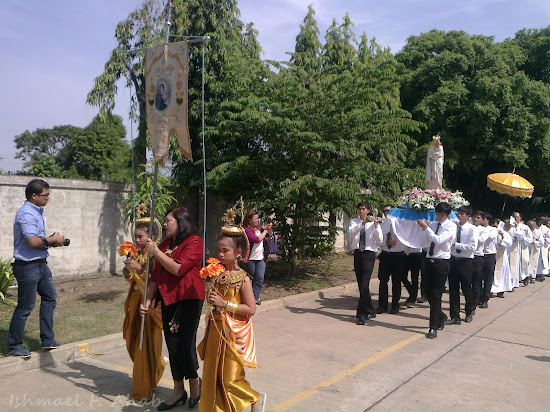 Procession for the Solemnity of Mother of God by Thai Catholics in Rangsit