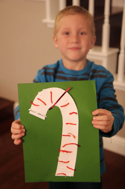 Toddler Approved!: Candy Cane Collage Craft for Toddlers