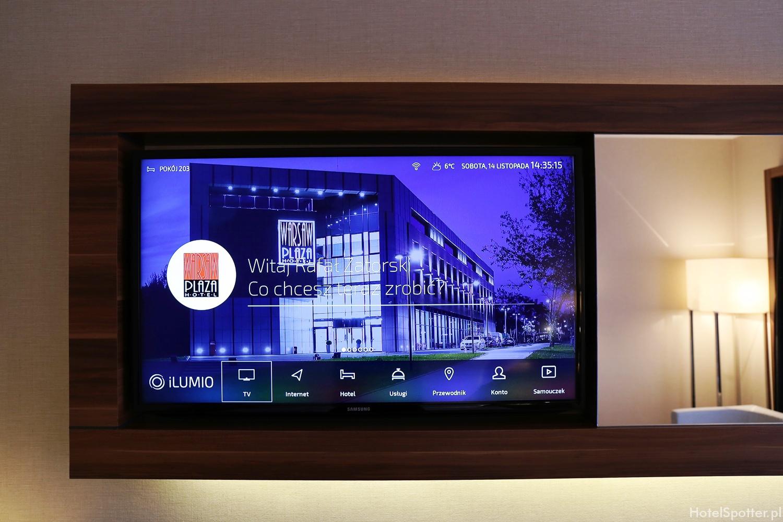 Warsaw Plaza Hotel - telewizor z iLumio