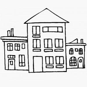 disegni di case da colorare