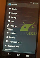 Android 4.4 KitKat settings page