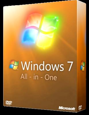 Microsoft Windows 7 Aio SP1 poster box cover
