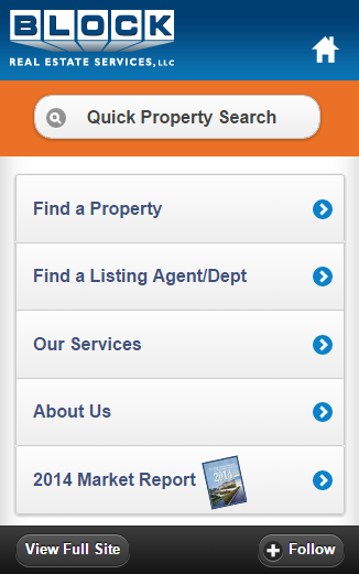Block Real Estate Services, LLC (BRES) Mobile site