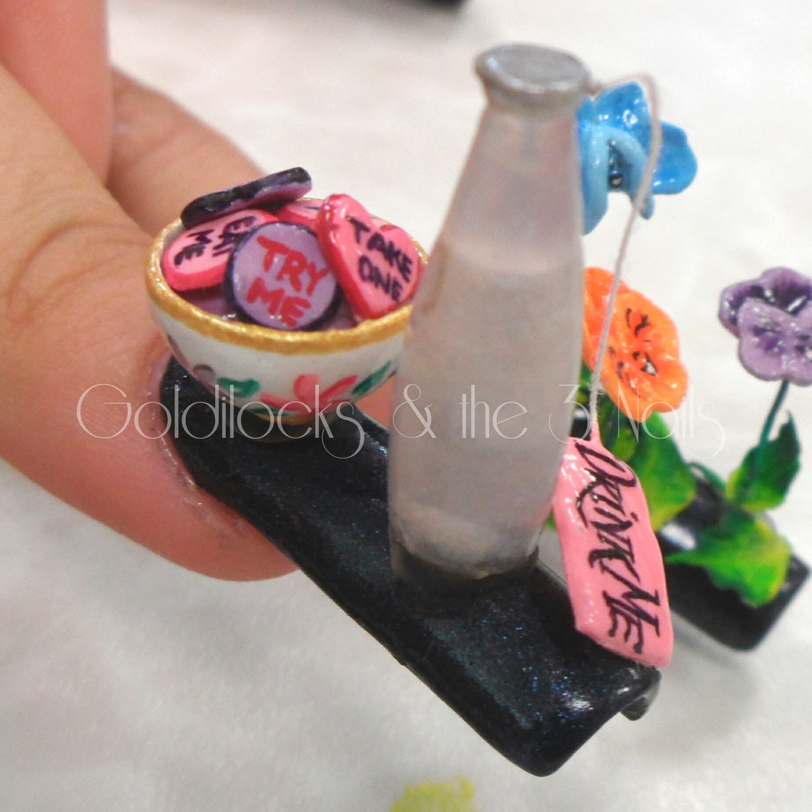 Goldilocks the three nails alice in wonderland 3d nail art and some close ups prinsesfo Images
