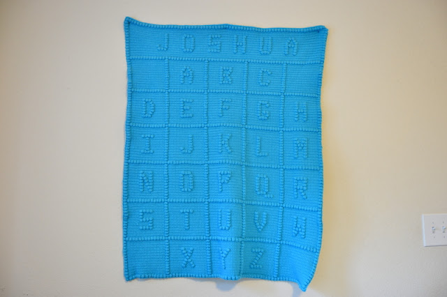 Alphabet Crochet Blanket