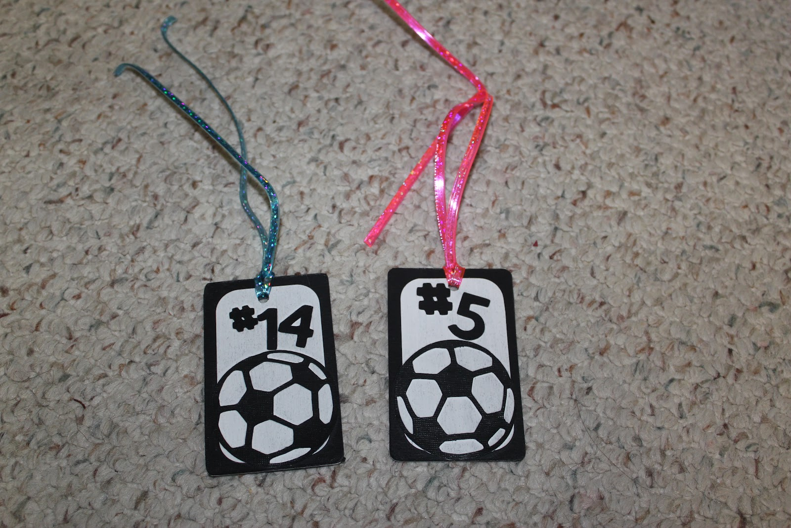I Took Old Gift Cards We Had Laying Around The House And Covered Them With Black Card Stock Mod Pauge Then Cut Out Their Number Soccer Ball