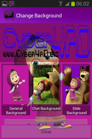 Download Bbm Mod Masha and the bear + Bisa Ganti Background V.2.2.1.45