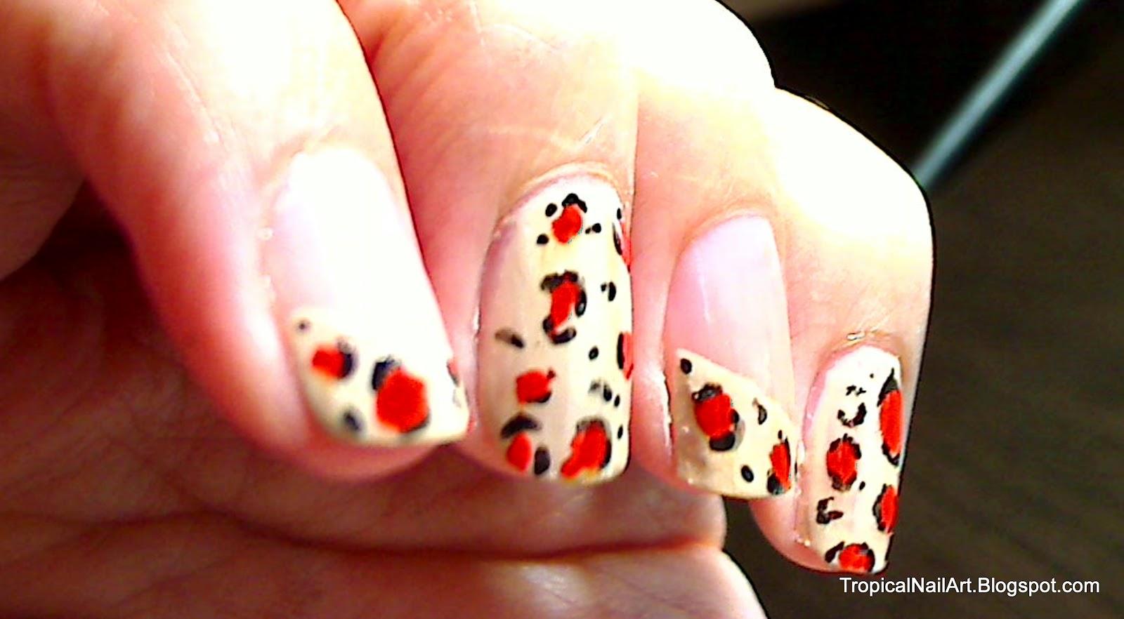 Tropical Nail Art: Leopard Print Mani