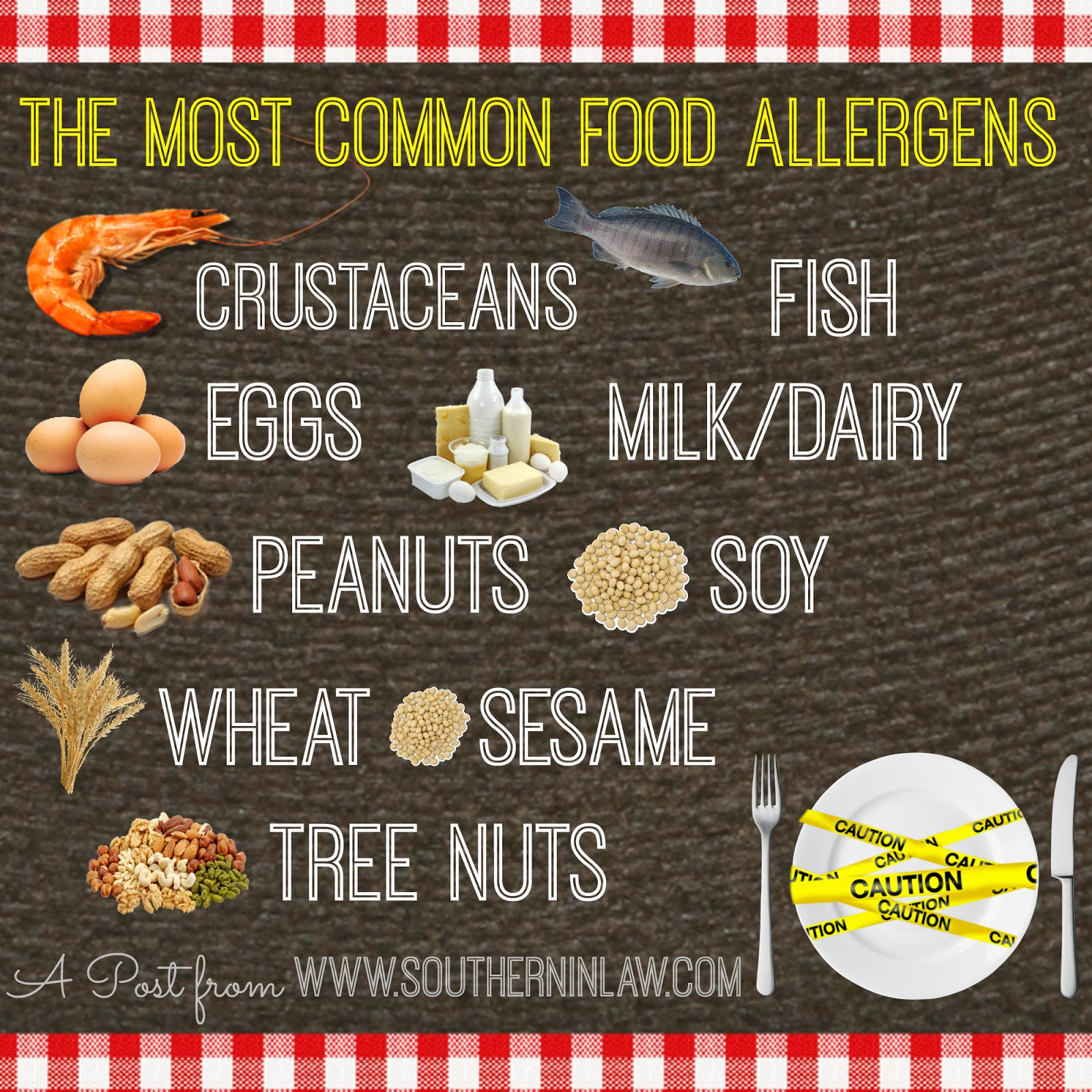 The most common food allergies and allergens - The difference between food allergies and intolerances