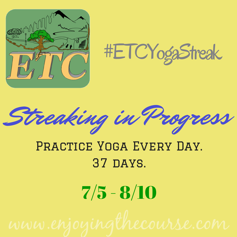 Streaking in Progress! #ETCRunStreak | enjoyingthecourse.com