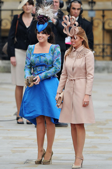 Beatrice and Eugenie at the Royal Wedding