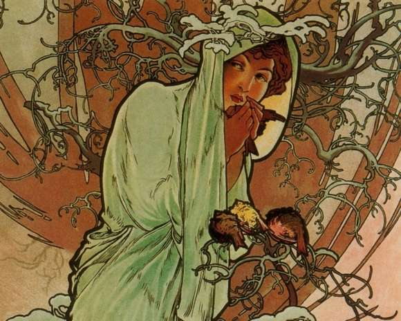 Alphonso Mucha Art Painting Wallpapers 05