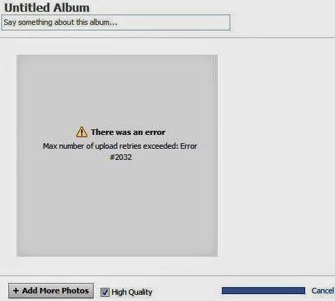 solusi 'Max number of upload retries exceeded: Error #2032'