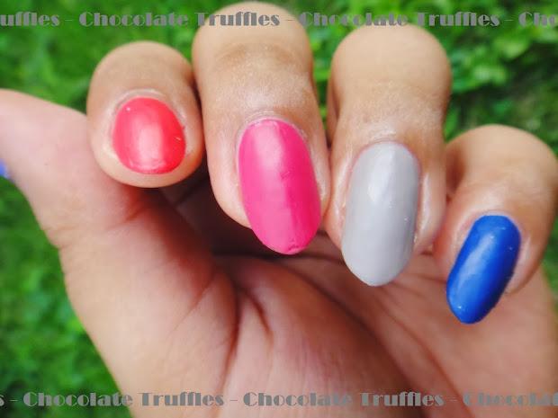 chocolate truffle nails berry