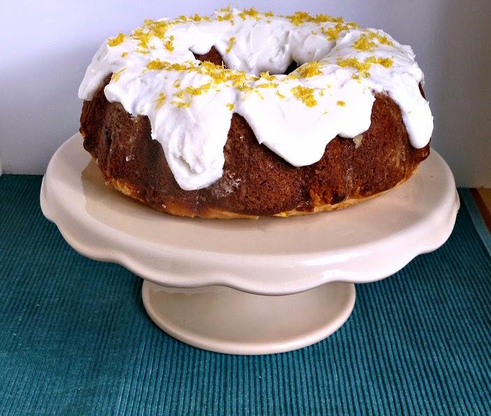 lemon bundt cake with lemon curd filling for scott's 75th birthday