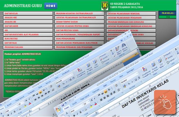 Aplikasi Administrasi Kelas KTSP Terbaru dengan Microsoft Excel