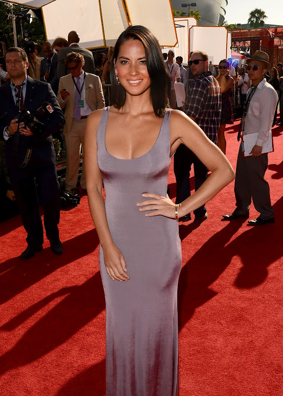 Olivia Munn in a body tight gown