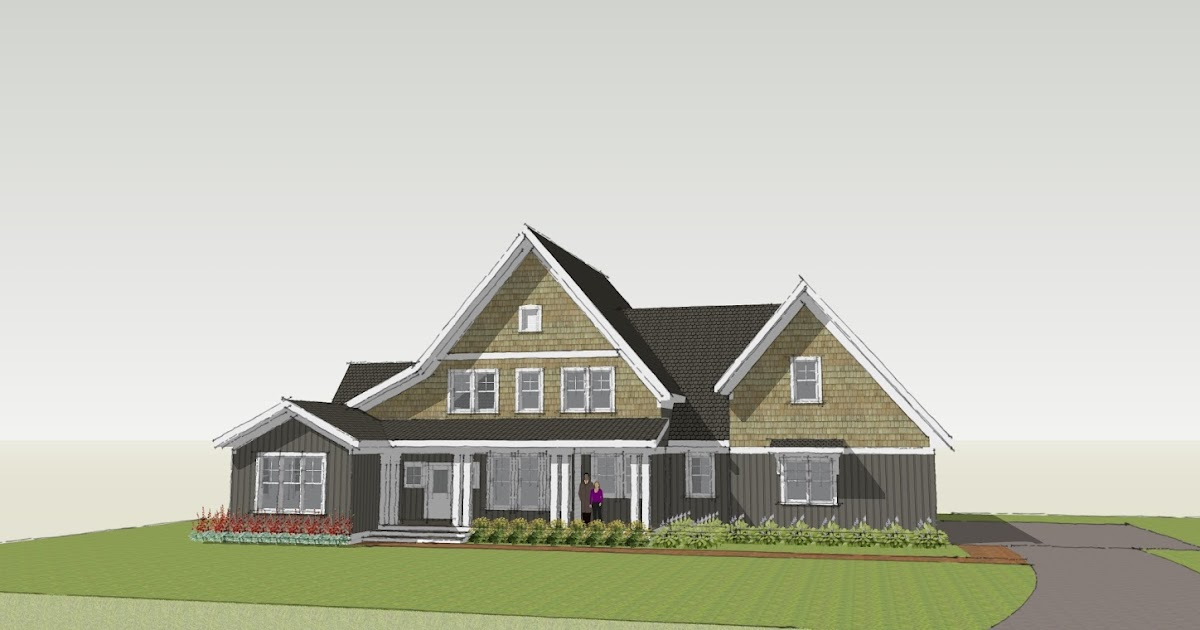 Simply elegant home designs blog shingle style studies for Single roof line house plans