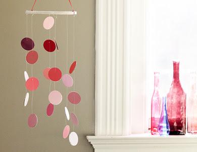 furniture under glass via pintrest paint chip garland via pintrest