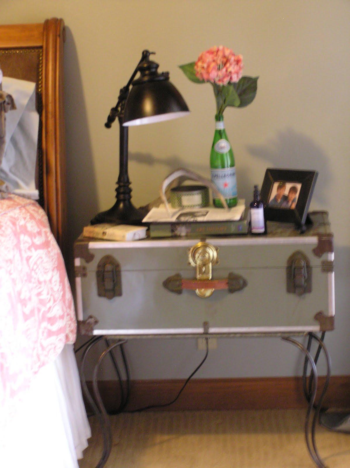 Old Trunk Bedside Table - The Vintage Cupboard: Old Trunk Bedside Table