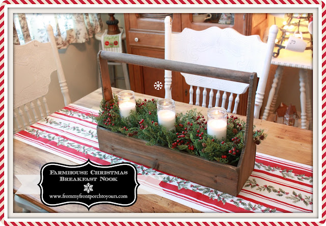 Farmhouse Christmas Kitchen-Breakfast Nook-From My Front Porch To Yours