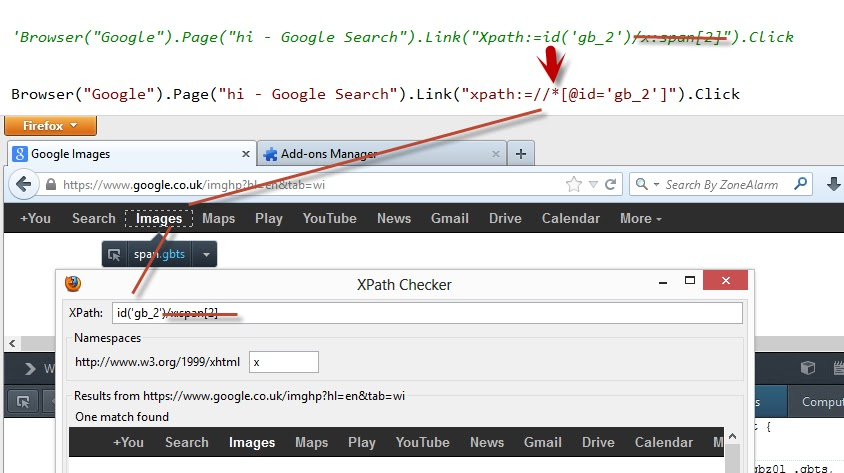 how to find the xpath of an element