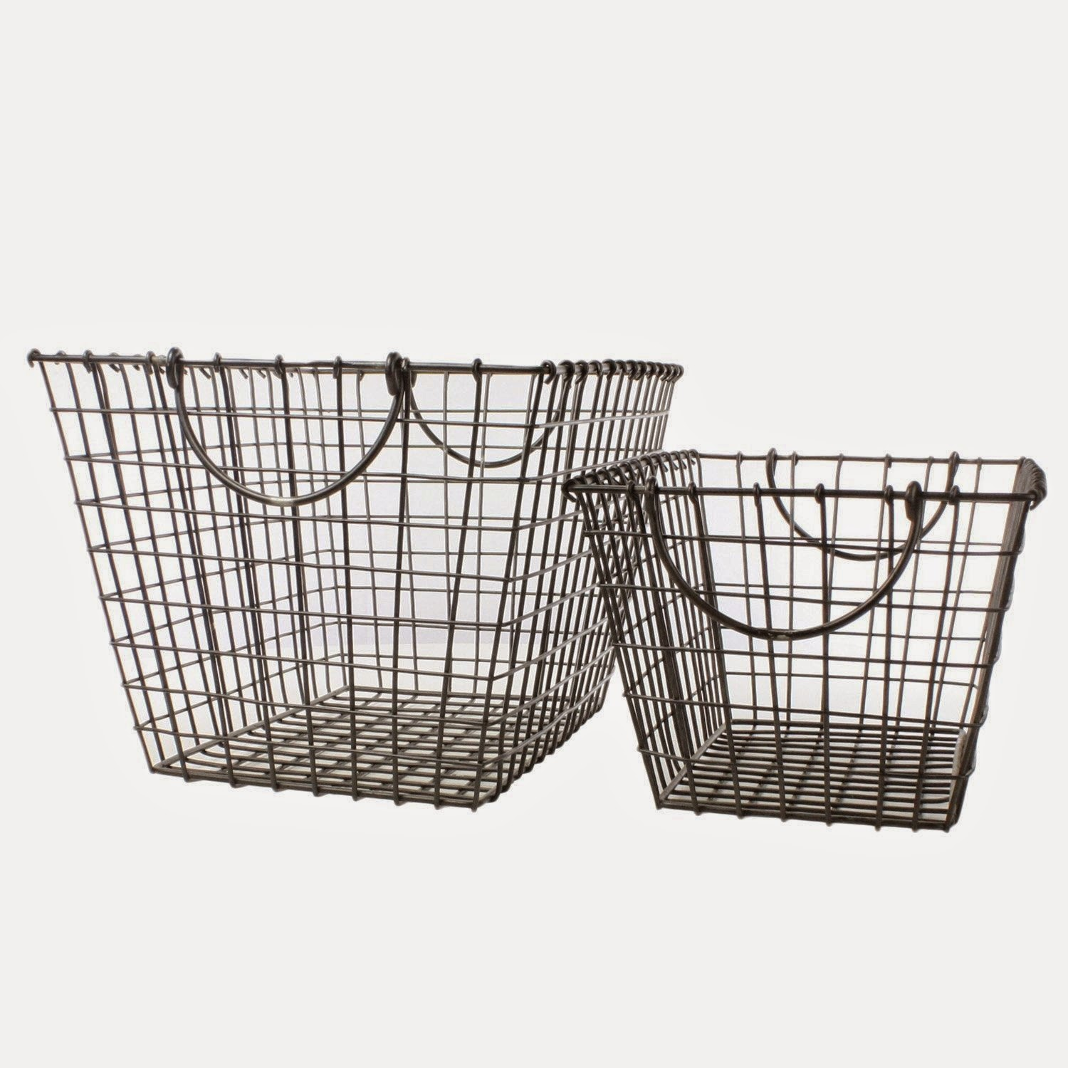 deeauvil organizing with wire baskets. Black Bedroom Furniture Sets. Home Design Ideas
