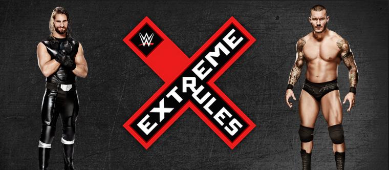 combate por el campeonato mundial pesado de la WWE rollins se enfrenta a la víbora Randy Orton en extremerules
