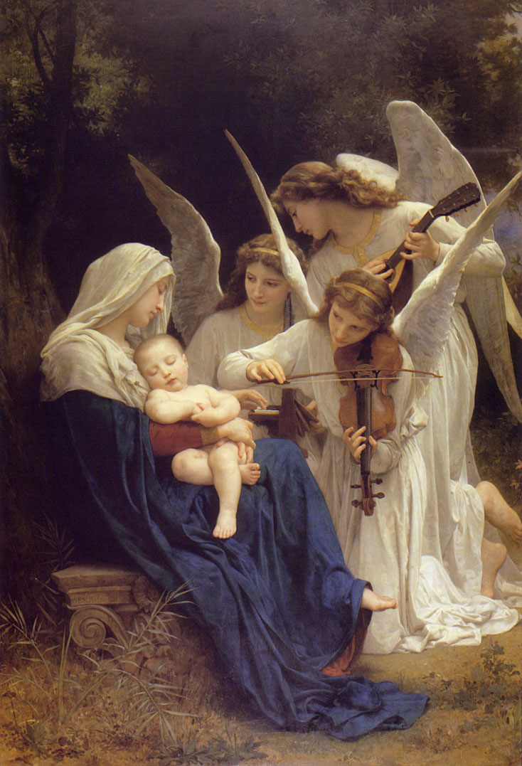 Song of the Angels. 1881. Óleo sobre tela - 213.4 x 152.4 cm