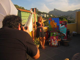 Mariana Bonifatti em seu atelier em Santa teresa - RJ