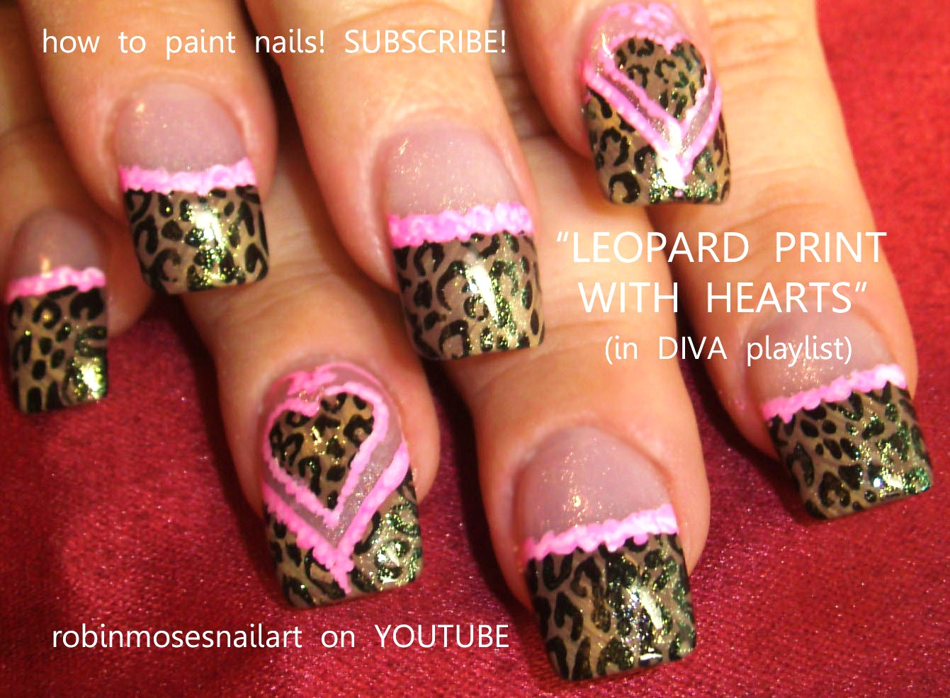valentines day nails, leopard print with pink ruffles, pink ruffles ...