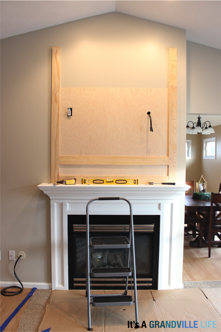 it u0027s a grandville life diy board and batten fireplace
