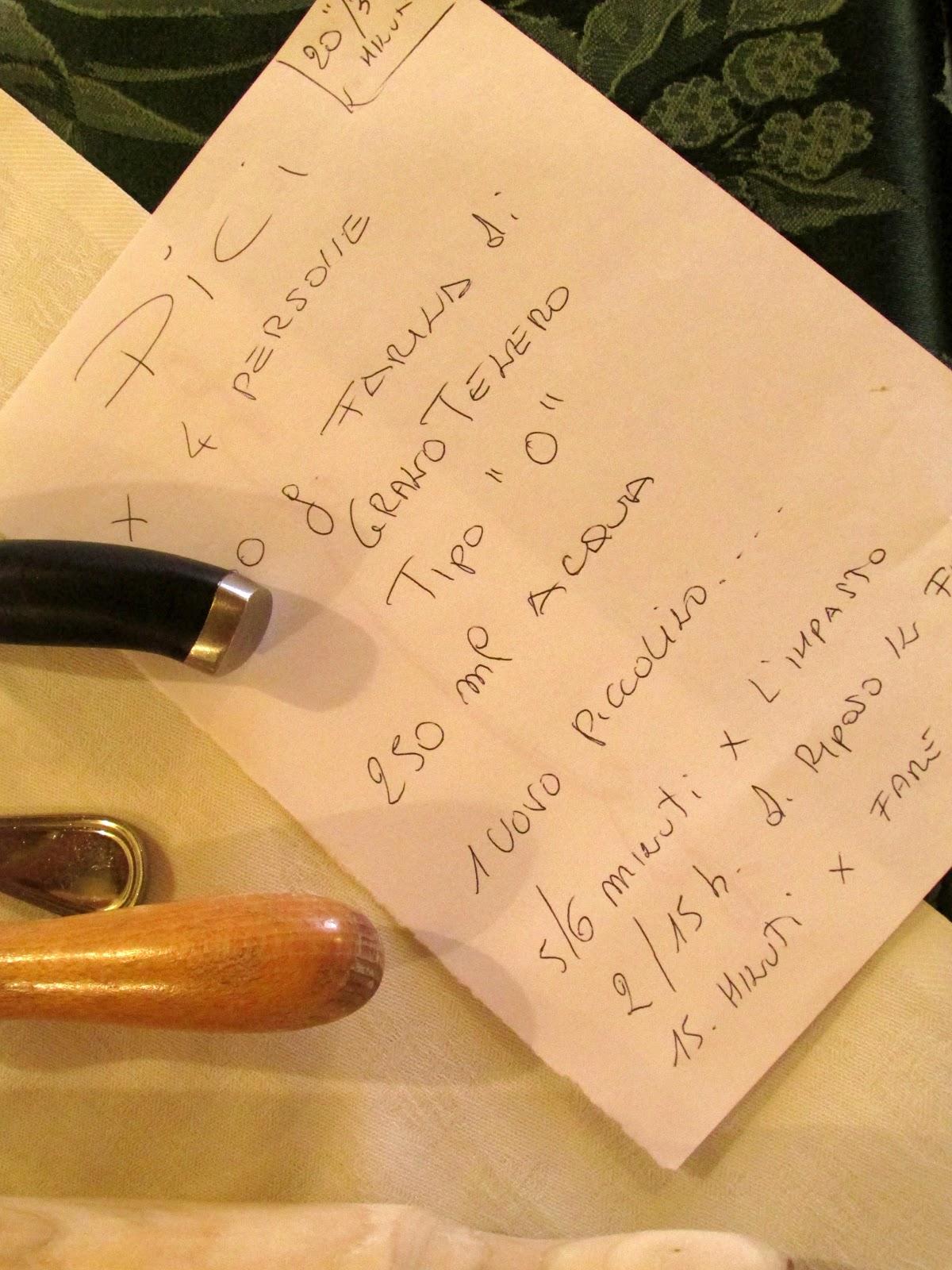 la pasta fatta in casa ( i pici toscani ). gesti che si tramandano da generazioni