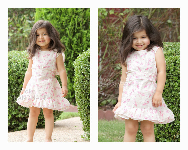 Peekaboo Pattern Tour--The Vivienne Dress turned into a summer dress! Plus a giveaway!