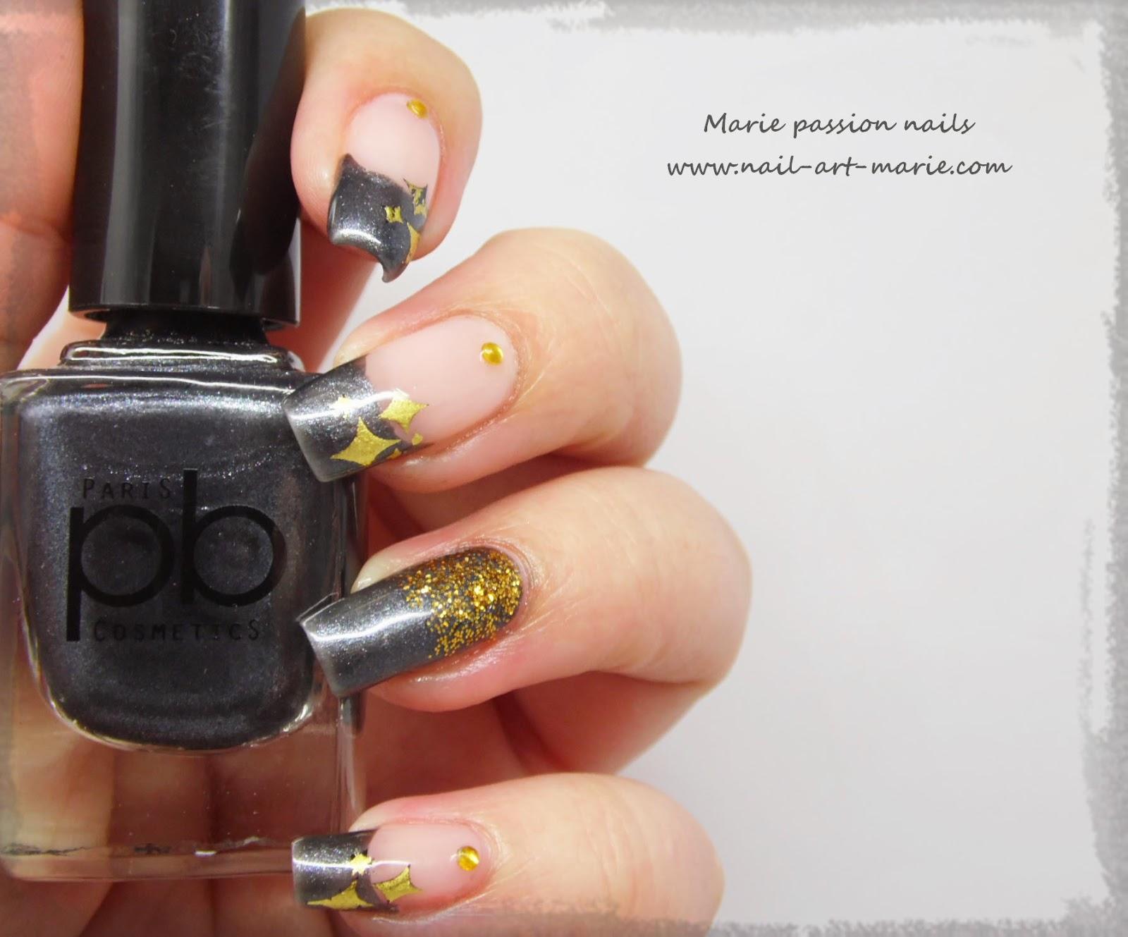 nail art stamping au foil2