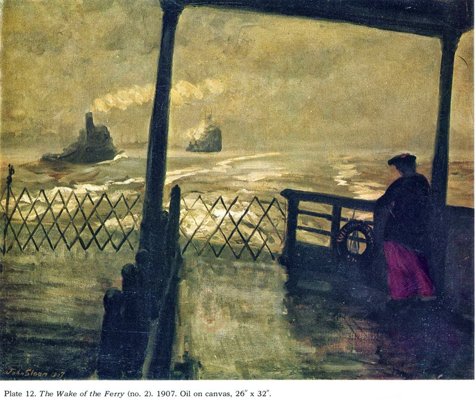 The wake of the ferry (John French Sloan)