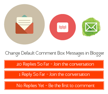 Changing Comment Messages in Blogger