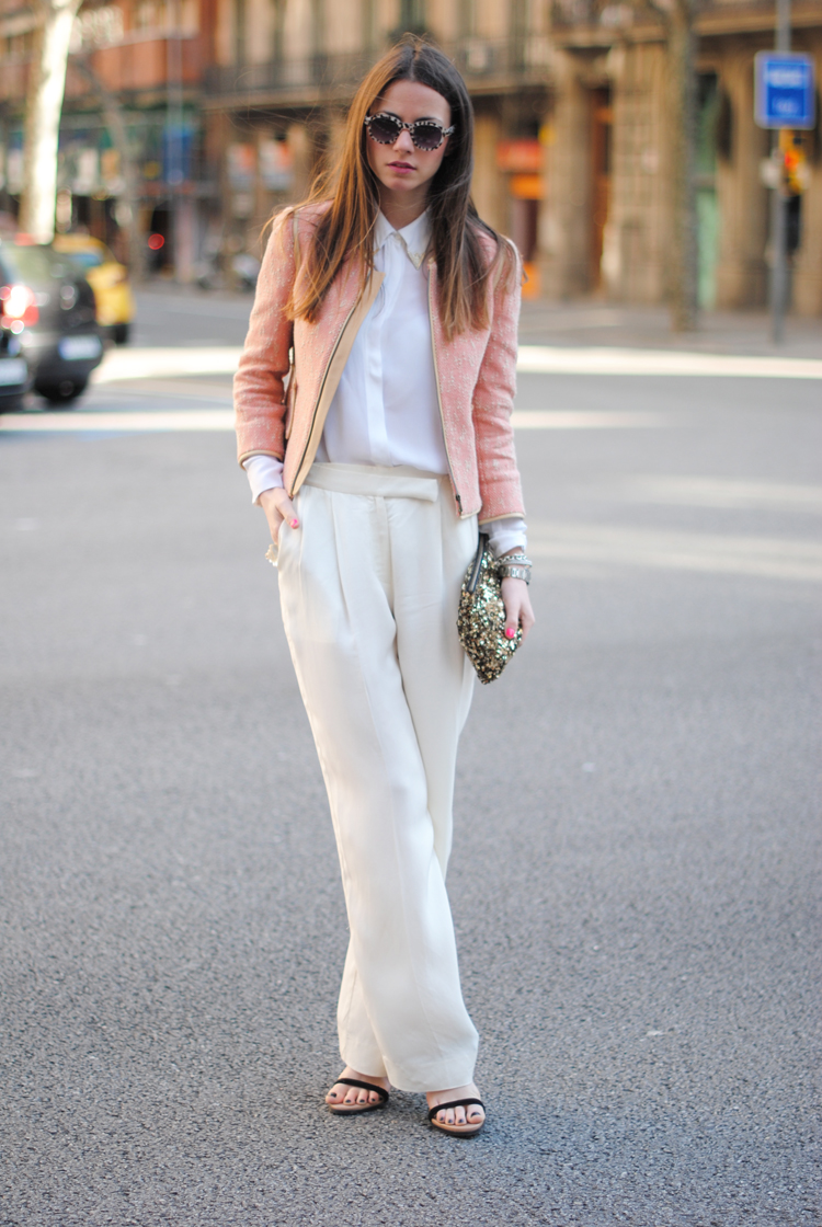 CREAM WIDE-LEG TROUSERS - Tiffany event ~ Thread Ethic | Modest ...