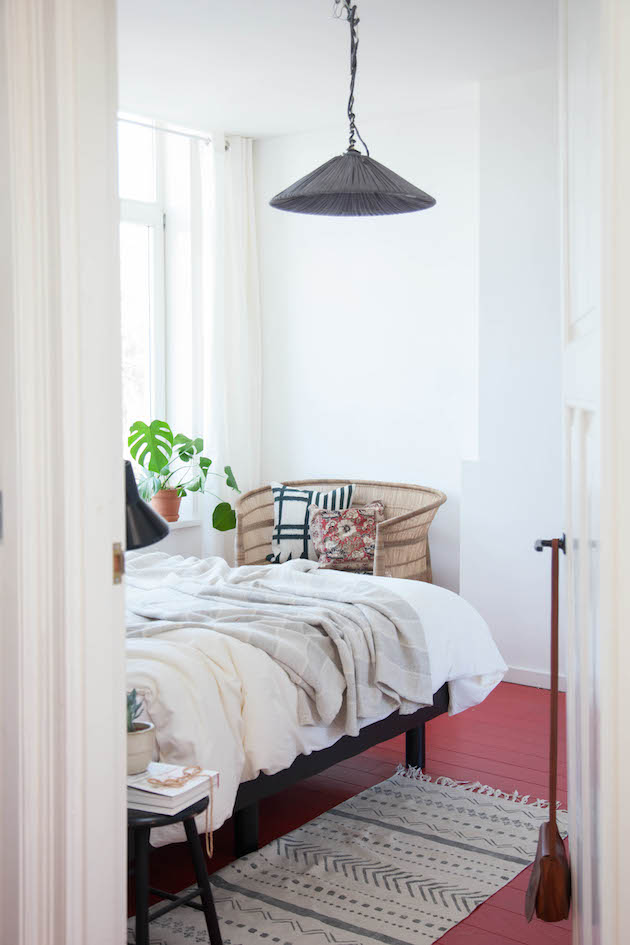 my scandinavian home A Dutch guest house with red floors and