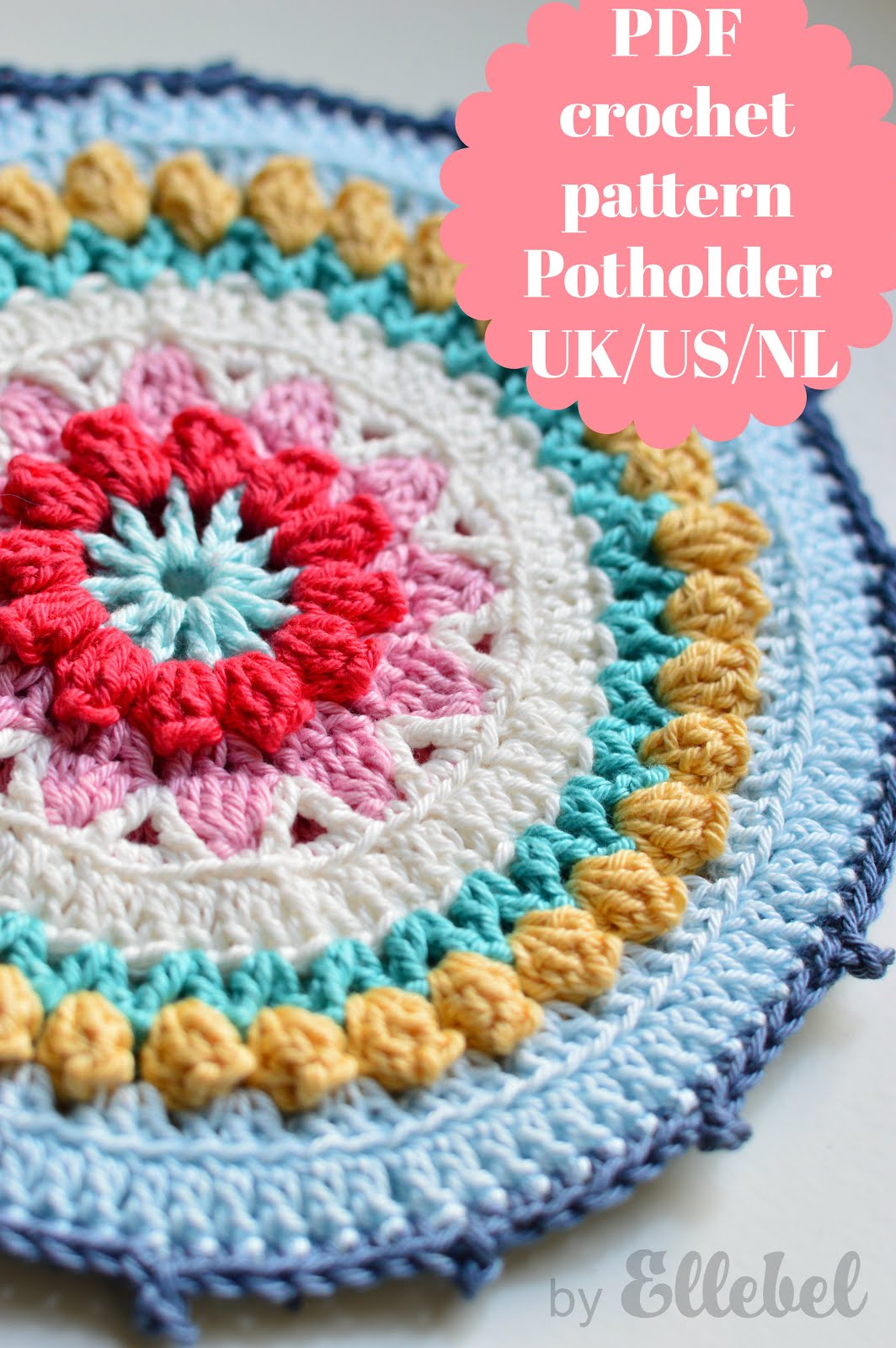 Patroon pannenlap/pattern potholder