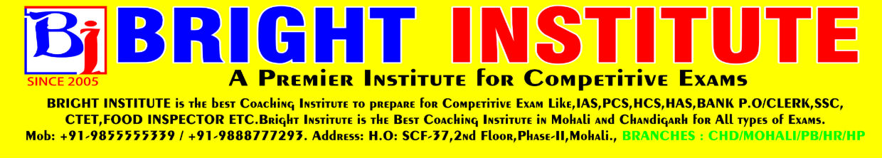 BRIGHT INSTITUTE MOHALI