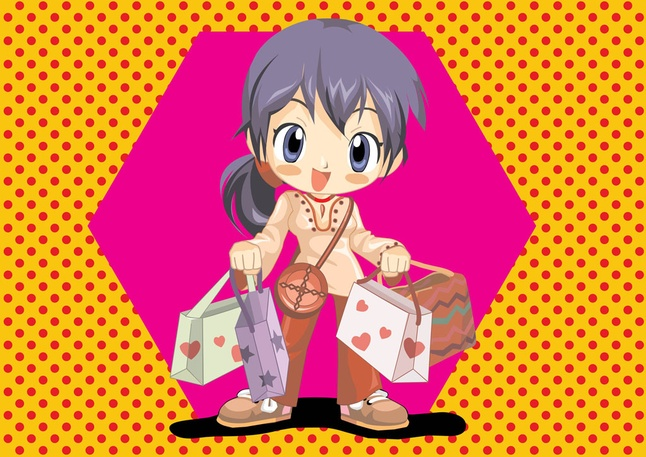 Free Anime Shopping Stock Vector Art Download