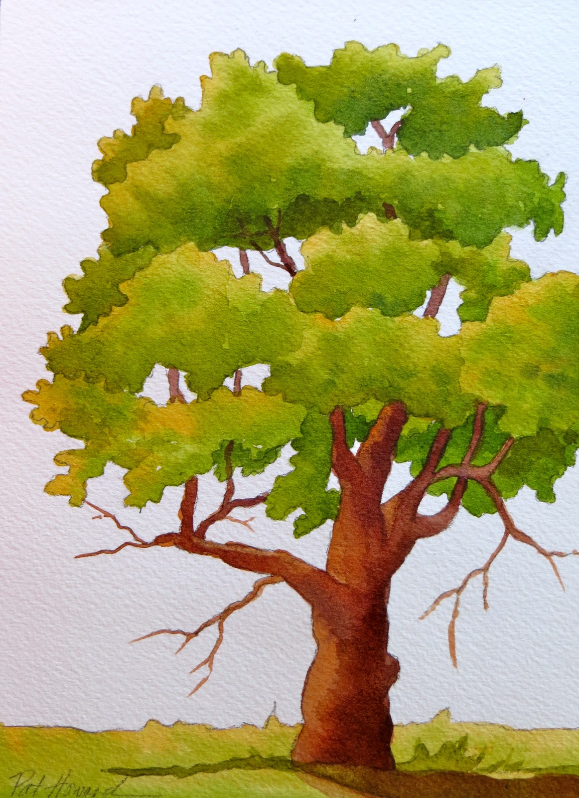 the painted prism 5 watercolor techniques for trees