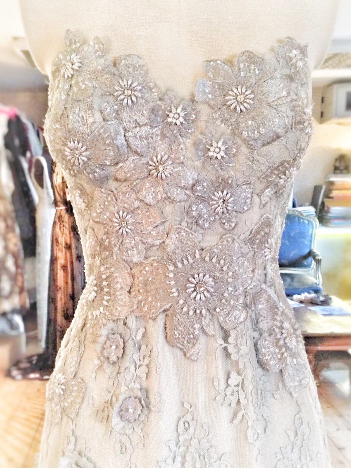 Joanne Fleming Design Halcyone a flower embellished lace