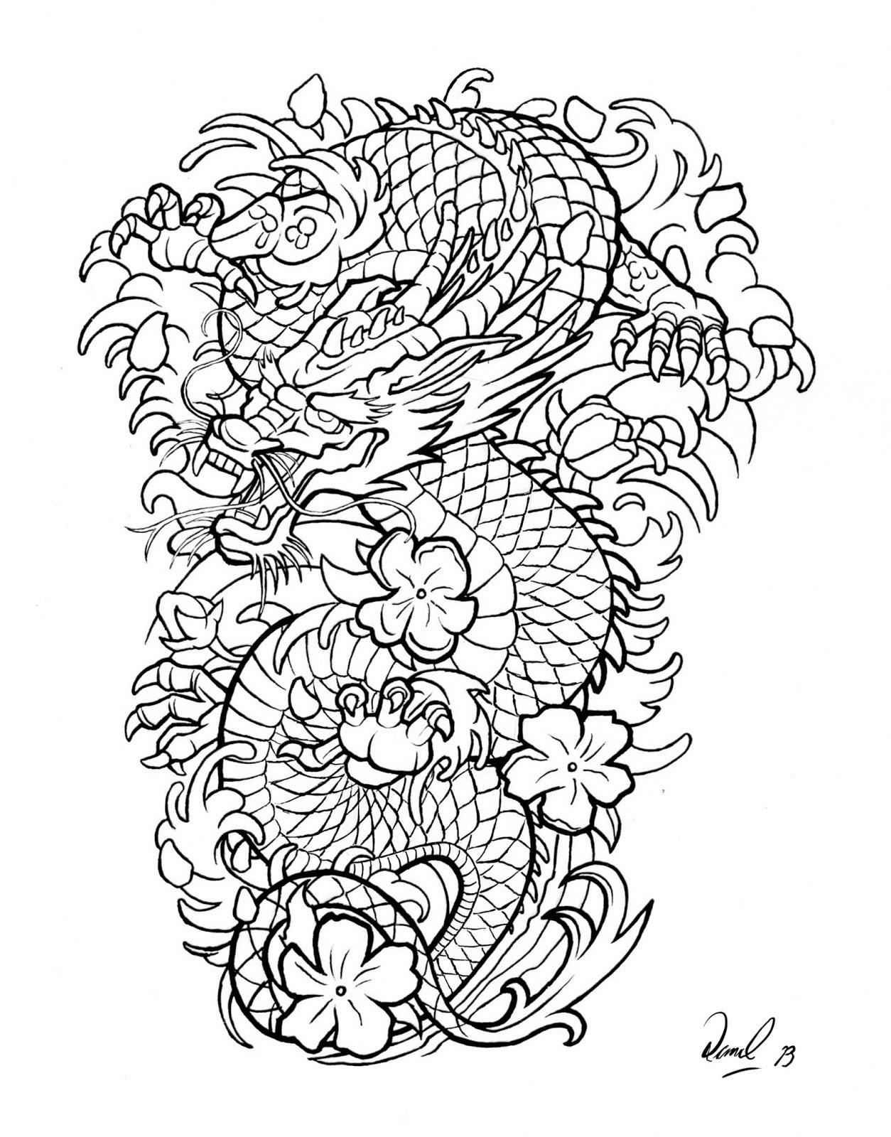 Dragon tattoo design dan bede fazekas art blog dragon tattoo design maxwellsz